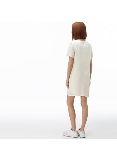 Lacoste Kadın Bisiklet Yaka Elbise EF0057.57B Beyaz